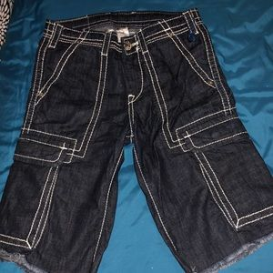 True religion cargo shorts sizes 28
